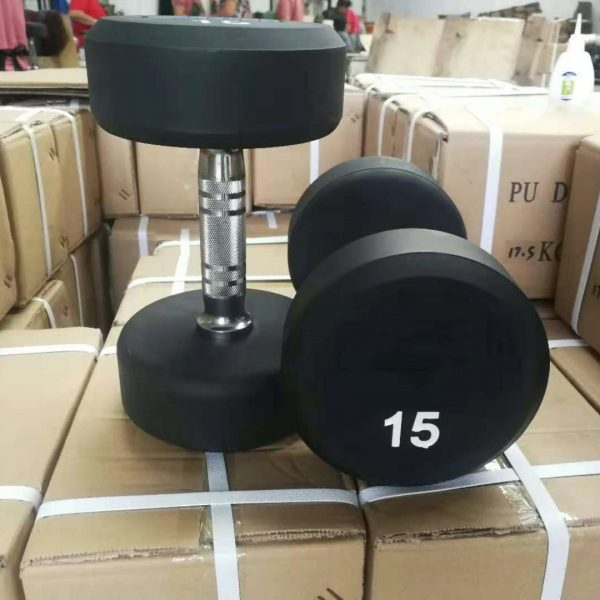 Urethane commercial round dumbbell